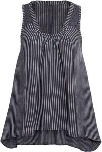 Bluzka bonprix BODYFLIRT z okrągłym dekoltem z lnu w stylu casual