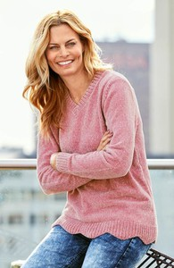 Różowy sweter Cellbes w stylu casual