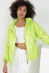 Zielona kurtka born2be w stylu casual krótka