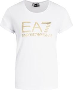 T-shirt EA7 Emporio Armani z krótkim rękawem w stylu casual z okrągłym dekoltem