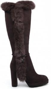 Kozaki Laura Biagiotti na słupku przed kolano w stylu casual