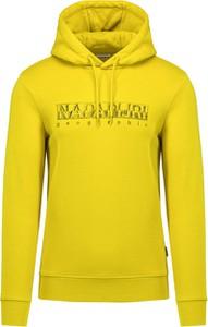 Żółta bluza Napapijri z dzianiny