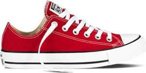 Czerwone trampki Converse sznurowane