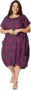 Sukienka Aller Simplement z krótkim rękawem z okrągłym dekoltem