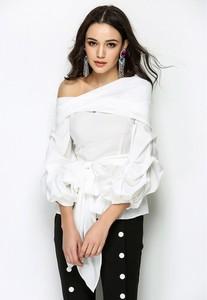 Bluzka Glamour Chic z długim rękawem