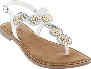 Sandały Lazamani w stylu casual z płaską podeszwą