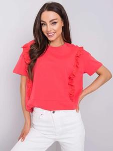 Różowa bluzka Promese z bawełny