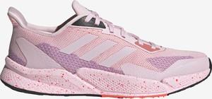 Buty sportowe Adidas Performance w sportowym stylu sznurowane ze skóry