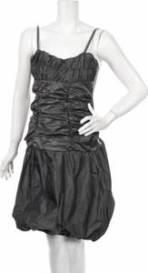 Czarna sukienka Festtvei Fashion z dekoltem w kształcie litery v mini