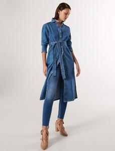 Niebieska sukienka Reserved szmizjerka w stylu casual