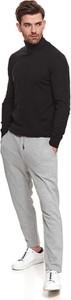Sweter Top Secret z dzianiny w stylu casual z golfem