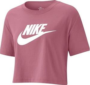 T-shirt Nike w sportowym stylu z tkaniny z okrągłym dekoltem