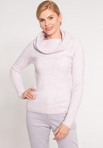 Różowy sweter QUIOSQUE w stylu casual