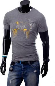 Niebieski t-shirt Glo-Story z bawełny