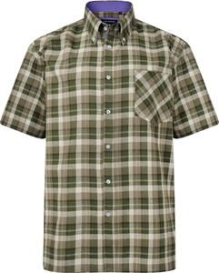 Koszula Kam z krótkim rękawem z bawełny z klasycznym kołnierzykiem