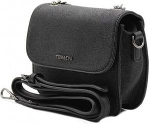 Czarna torebka Tom & Eva Paris na ramię średnia