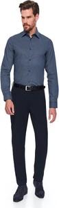 Niebieska koszula Top Secret z długim rękawem z klasycznym kołnierzykiem