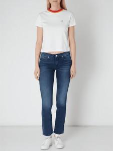Granatowe jeansy Tommy Jeans z jeansu w street stylu