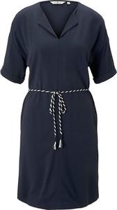 Sukienka Tom Tailor w stylu casual z dekoltem w kształcie litery v mini