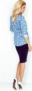 Niebieska koszula MORIMIA z tkaniny