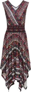 Sukienka bonprix RAINBOW z nadrukiem w stylu casual rozkloszowana