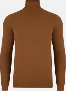 Brązowy sweter Pako Lorente w stylu casual z tkaniny
