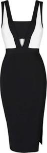 Czarna sukienka Yaze dla puszystych