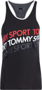 Czarny top Tommy Sport