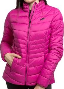 Różowa kurtka 4F w sportowym stylu krótka