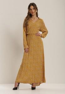 Żółta sukienka Renee maxi