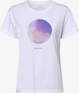 T-shirt ARMEDANGELS z okrągłym dekoltem z bawełny z krótkim rękawem