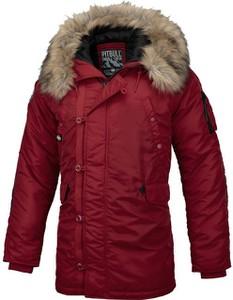 Czerwona kurtka Pit Bull krótka w stylu casual