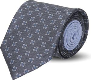 Szary krawat recman w abstrakcyjne wzory