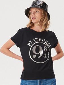 T-shirt Sinsay z okrągłym dekoltem w młodzieżowym stylu