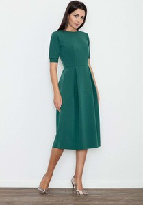 Zielona sukienka Figl z okrągłym dekoltem