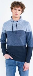 Niebieski sweter Big Star z wełny w stylu casual