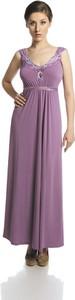Fioletowa sukienka Fokus z dżerseju maxi