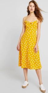 Sukienka Warehouse z dekoltem w kształcie litery v na ramiączkach