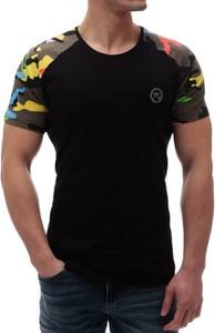 Czarny t-shirt Duuf z krótkim rękawem
