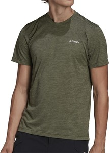 Zielony t-shirt Adidas z krótkim rękawem w sportowym stylu
