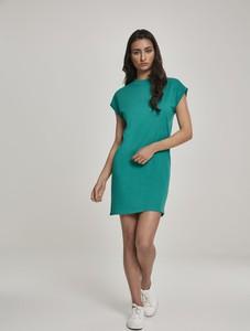 Zielona sukienka Urban Classics mini z krótkim rękawem
