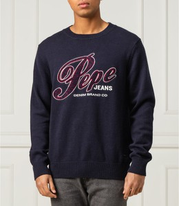 Niebieski sweter Pepe Jeans z wełny