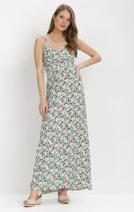 Sukienka born2be na ramiączkach trapezowa z dekoltem w kształcie litery v