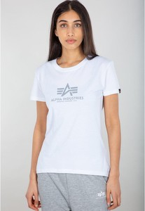 Bluzka Alpha Industries z bawełny z okrągłym dekoltem w młodzieżowym stylu