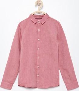 Różowa koszula dziecięca Reserved z bawełny