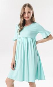 Sukienka born2be mini z okrągłym dekoltem z krótkim rękawem