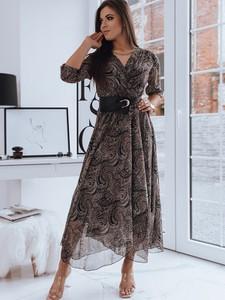 Sukienka Dstreet maxi z długim rękawem