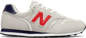 Buty sportowe New Balance sznurowane z zamszu w sportowym stylu
