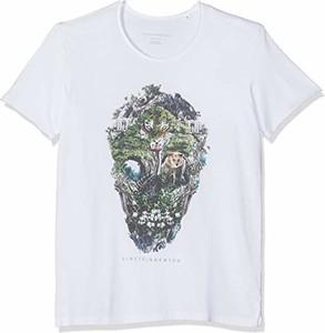 T-shirt amazon.de z nadrukiem z krótkim rękawem