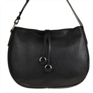 Czarna torebka Real Leather w stylu glamour